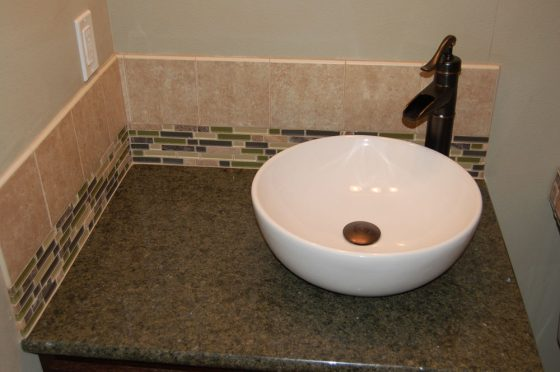 Bronze Tiled Bathroom Sink