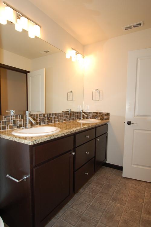Brown Wood & Tiled Bathroom